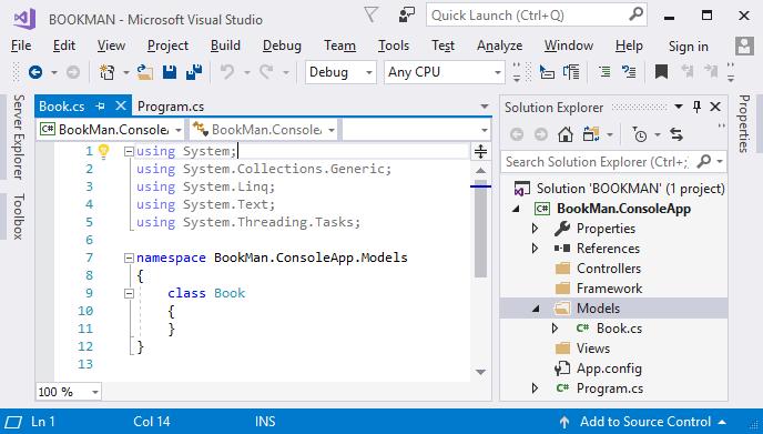 File mã nguồn của class mới tạo