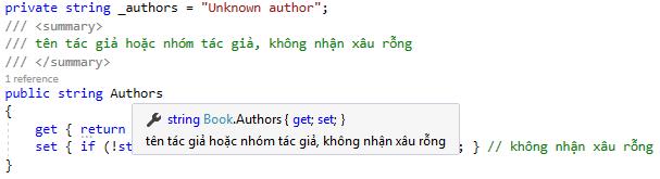 Biểu tượng property trong Visual Studio