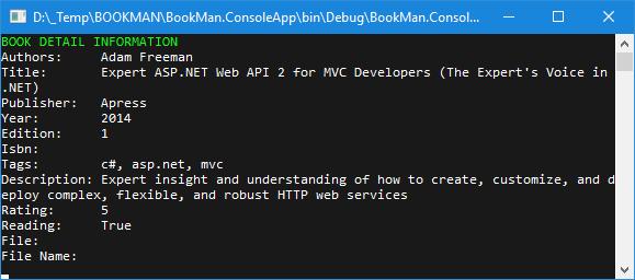 Kết quả chạy chương trình: in dữ liệu của một object ra console