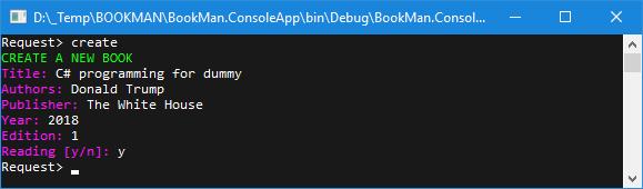 Kết quả chạy chương trình với lệnh create