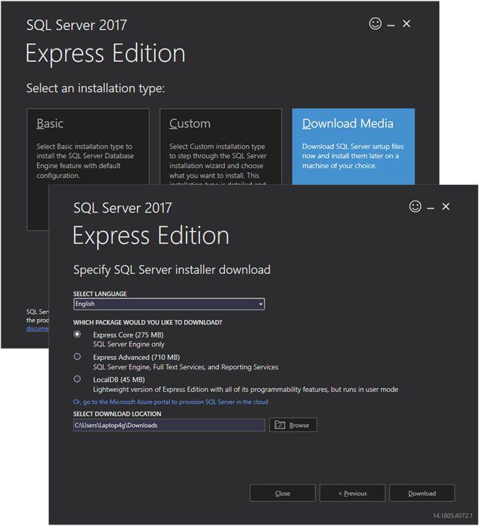 Cài đặt Sql Server Express để sử dụng cùng Entity Framework