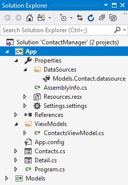Các file tạo ra cho Data Source