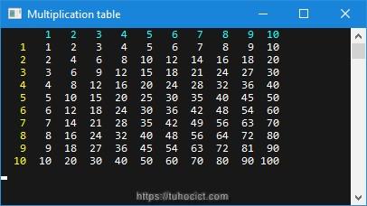Chương trình mảng 2 chiều C#