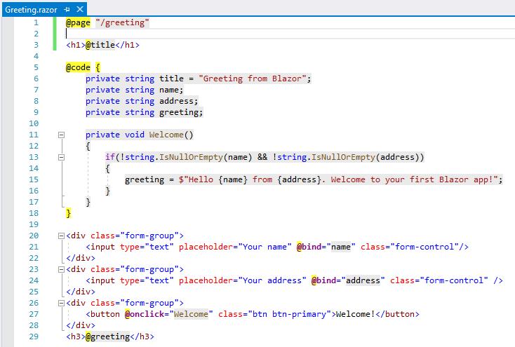 code blazor component