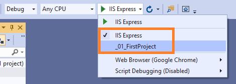 hai chế độ chạy thử của ứng dụng asp.net core