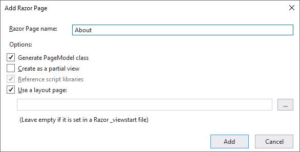 tạo page với model class
